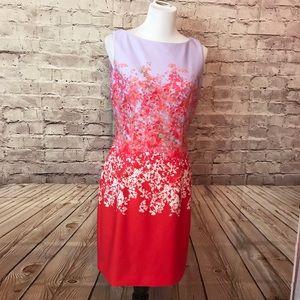 Tahari lavender floral dress